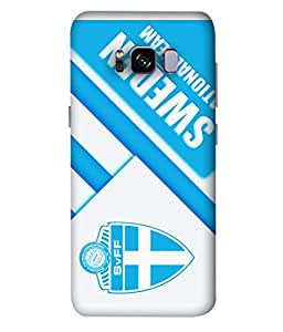 ColorKing Football Sweden 13 White shell case cover for Samsung S8 Plus