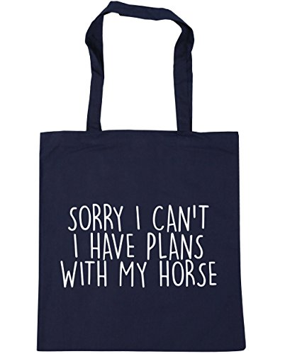 42cm I Tote 10 Sorry Can't Gym x38cm French Bag Shopping HippoWarehouse Horse Have Beach I With My Navy litres Plans wFzax6