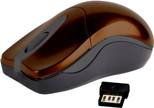 Speedlink Pica Kabellose 3-Tasten-Maus (kleines Format, für Rechtshänder, 1200dpi) braun