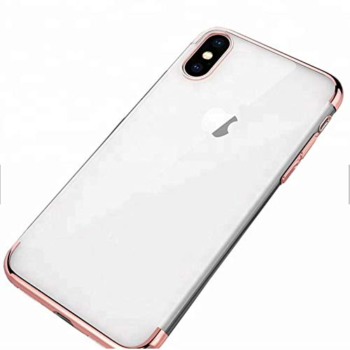 innovative design 697d4 6bac6 Apple iPhone Xs Phone Cases(2018) (XS Clear Case with Rose Gold Rim)