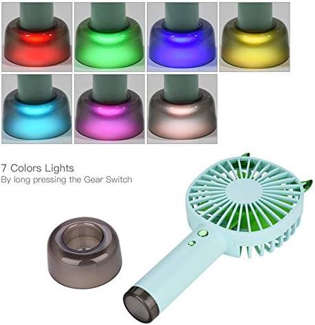 ENDJYO Ventilatore Portatile, Ventilatore Portatile Mini Ventilatore da Tavolo Ricaricabile USB Portatile Ricaricabile per Interni