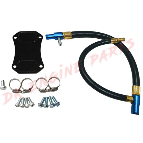 GM Chevrolet Duramax 6.6 6.6L EGR Valve Kit (LML Black w/Blue (Egr Fitting)