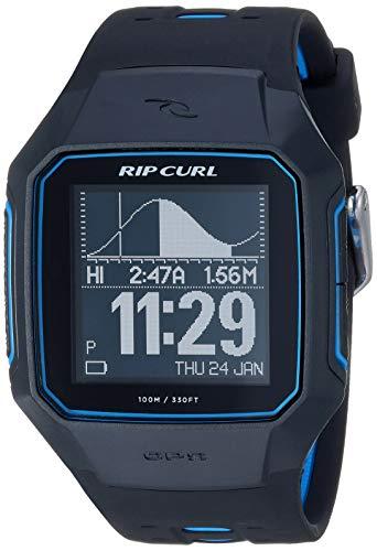 Rip Curl Men's SearchGPS Quartz Sport Watch with Polyurethane Strap, Black, 25.9 (Model: A1144-BLU)