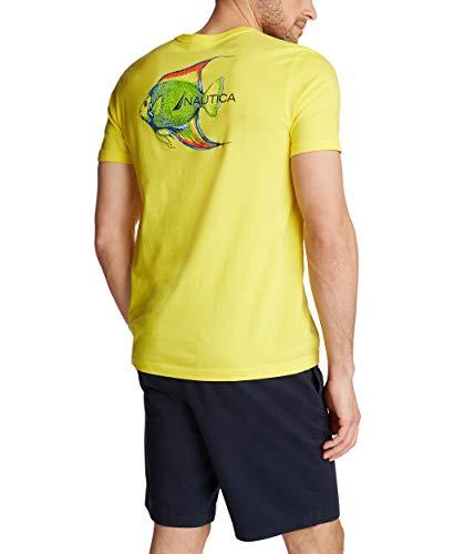Nautica Men's Short Sleeve 100% Cotton Fish Print Series Graphic Tee Shirt