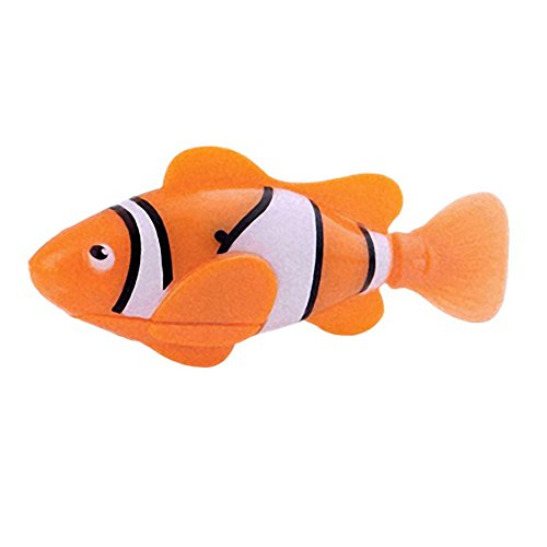 Adarl Simulation Swimming Electronic Fish Activated Battery Powered Robo Fish Children Kids Bathing Water Toys Orange