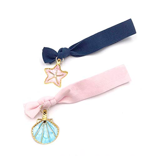 BigOtters 20 pcs Seashell Starfish Charms, Starfish Metal Beads, Alloy Charms Pendants for Jewelry Making and Crafting (Blue and Pink)