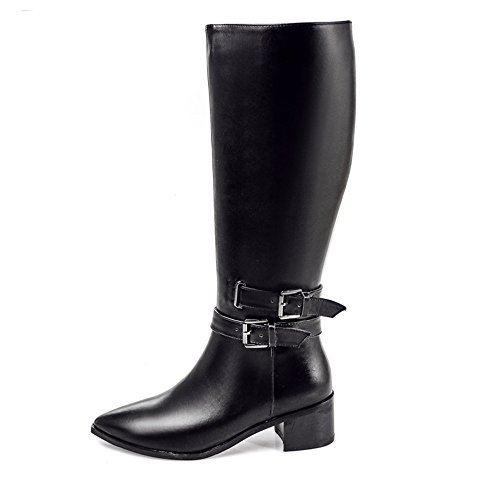 Nine high mujer Botas negro boots SevenKnee 7H6q8