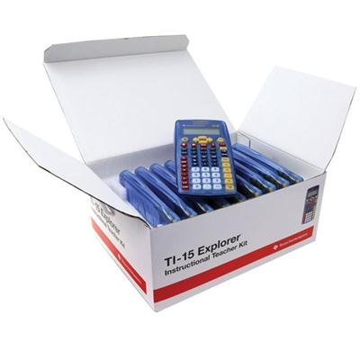 TI 15 Explorer Calculator Teacher Kit 10 Count by Texas Instruments