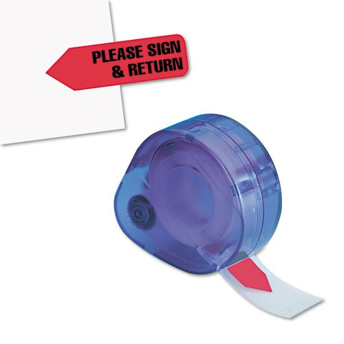 Redi-Tag Message Arrow Flag Refills, Please Sign & Return, Six Rolls of 120 Flags, Red (91037)