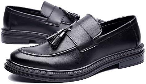 JINGYA Mocasines para Hombres Zapatos de Trabajo Puntiagudos ...