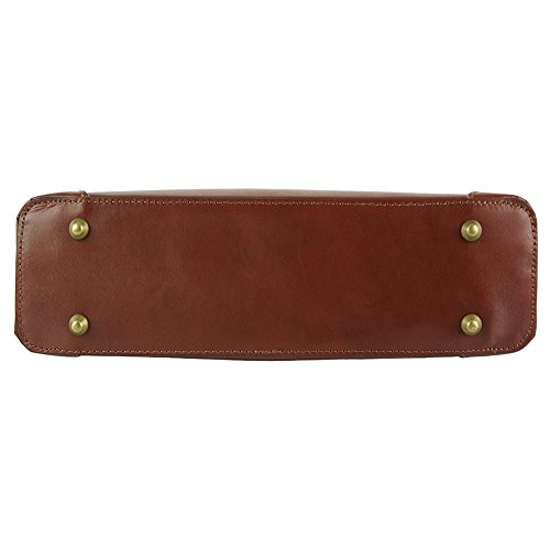 Cirilla 187 Cuir De Leather Vachette À Florence Veritable Main Market Marron En Sac COqWXanw