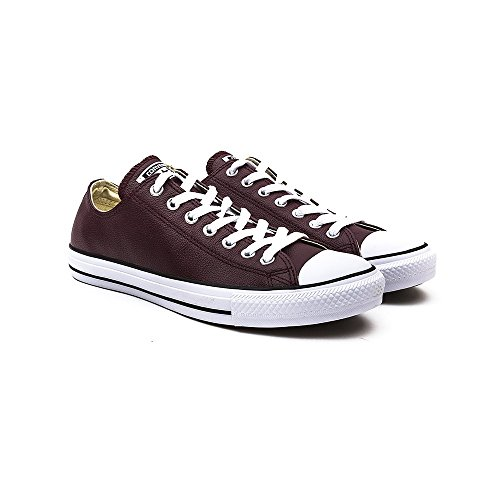 Converse Deep Bordeaux All Star OX Cuero Zapatillas-UK 12