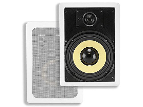 Monoprice Caliber In Wall Speakers 6.5 Inch Fiber 2-Way (pair) - 104100 by Monoprice