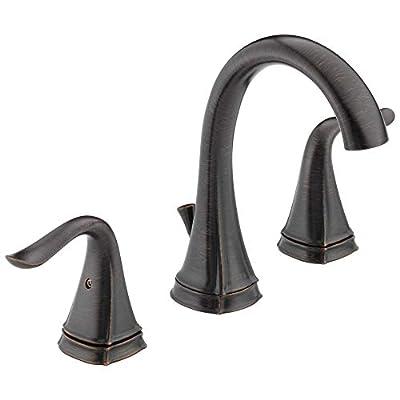 Delta 35705LF-RB Celice Two Handle Widespread Bathroom Faucet, Venetian Bronze