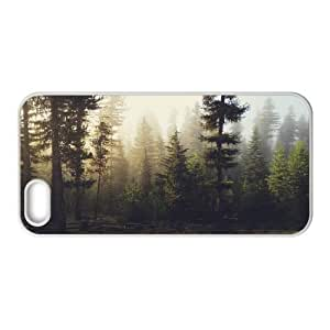 {Art Series} IPhone 5,5S Cases Sunrise Forest, Case Kweet - White