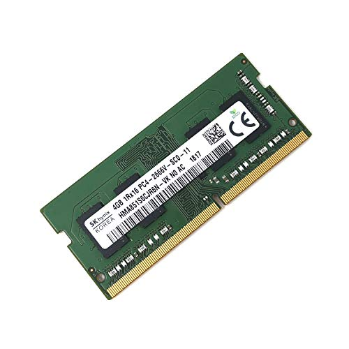 (SK hynix HMA851S6CJR6N - VK Non ECC PC4-2666V 4GB DDR4 at 2666MHz 260pin SDRAM SODIMM Single Kit Laptop Memory - OEM)
