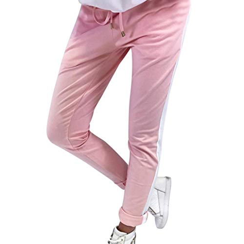 Donna Leggins Grigio Leggings Fitness Donna Neri Pantaloni Neri Vita Alta Pantacollant Ragazze A Strisce Elastico Vita Casual Sportswear Pantaloni Lunghi Pantaloni Rosa