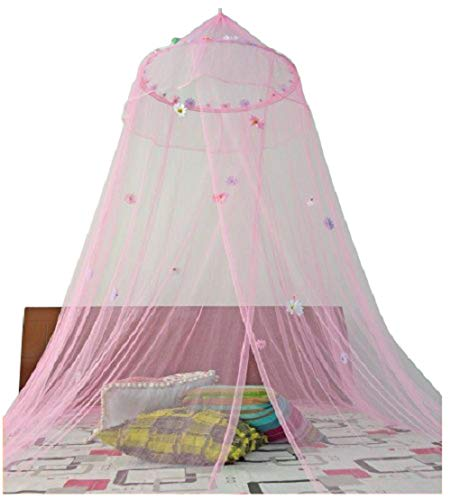 OctoRose  Daisies Bed Canopy Mosquito Net Bed, Dressing Room, Out Door Events (Pink)