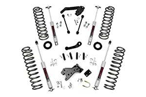 Rough Country - 681S - 4-inch Suspension Lift System w/ Premium N3 Shocks for Jeep: 07-18 Wrangler Unlimited JK 4WD