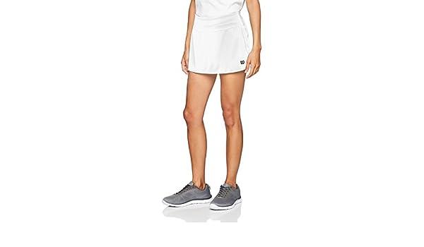Wilson Falda de tenis, W Team 12.5 Skirt, Poliéster/licra: Amazon ...