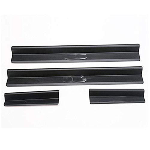 Nicebee One set of 4 pcs Aluminum alloy Front & Rear Door Sill Protector Scuff Plate Entry Guards For 2007-2016 Jeep Wrangler JK 4 Door Black