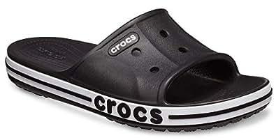 Crocs Womens Unisex-Adult Mens Men's & Women's Bayaband Slide Sandal Black Size: 6 Women/4 Men