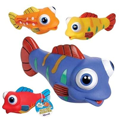 4 Silly Fish Water Squirters Bath Tub Toy - by GrandSlamm: Toys & Games