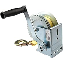 Bang4buck Heavy Duty Hand Winches with Yellow Crank Strap for ATV Jet Ski Trailer Boat Bales (1000 lb Capacity with Crank Strap)