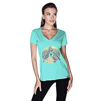 Creo China Wall T-Shirt For Women - M, Green