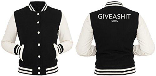 Give A Shit Paris College Vest Girls Black