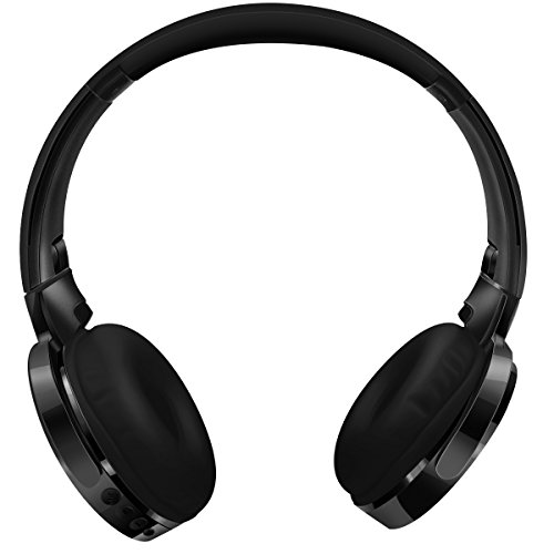 Kimitech Premium Bluetooth Headphones, Over-the-Ear, Wireless, Wired, Foldable,Bluetooth Headsets, Microphone-feature, Noise-Isolating, Lightweight, Black (black)