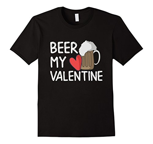Beer My Valentine | Red Heart Beer Pint Glass Shirt