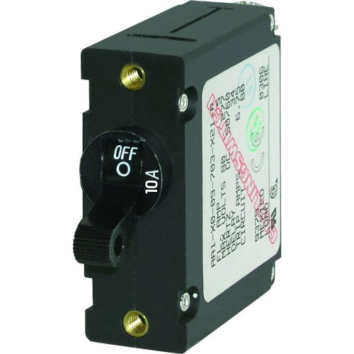 BLUE SEA 7204 CIRCUIT BREAKER AA1 10A BLACK from Blue Sea Systems