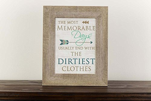 The Most Memorable Days End In The Dirtiest Clothes Laundry Room Sign Decor Framed Art 13x16