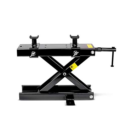 Black Choppers Large - ConStands Mini-Lift - Motorcycle Jack Scissor Lift for Chopper and Cruiser - Black