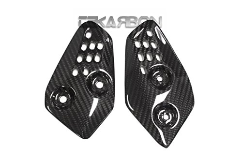 2013 - 2016 Yamaha FZ07 MT07 Carbon Fiber Heel Plates