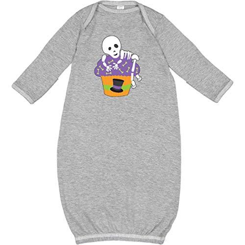 inktastic - Cupcake with Skeleton Newborn Layette Heather 27148