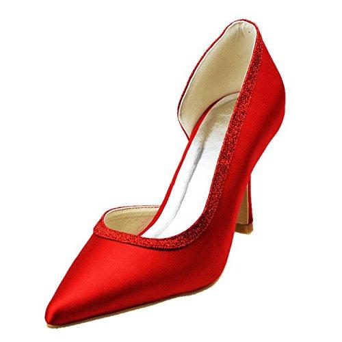 Minitoo , Escarpins pour femme - rouge - Red-9.5cm Heel,