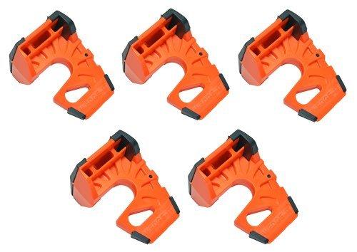Wedge-It - The Ultimate Door Stop -Orange (5 Pack) by Wedge-It