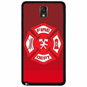 Firefighter Badge- Plastic Phone Case Back Cover Samsung Galaxy Note III 3 N9002