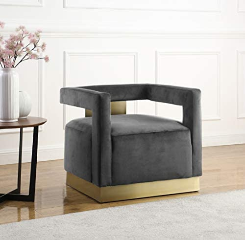 Best living room chair: Meridian Furniture Armani Collection Modern | Contemporary Velvet Upholstered Accent Chair