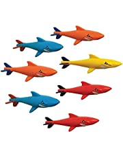 Prime Time Toys 7-Pack Sharkpedo Diving Masters Underwater Gliders - Pool Diving Toy - Assorted Colors