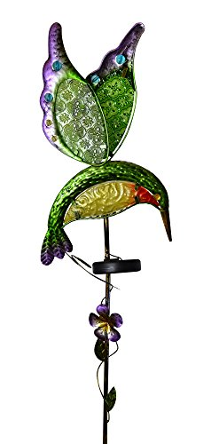 Moonrays 91442 Solar Powered White LED Hummingbird Stake Light - Hummingbird Stake Light
