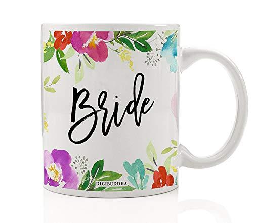 Pretty Floral Bride Coffee Mug Gift Idea Engagement