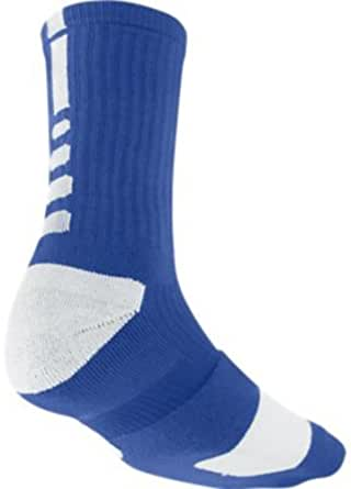Nike Men's Elite Basketball Crew Socks Style SX3692-441 Size Medium Royal/White/White