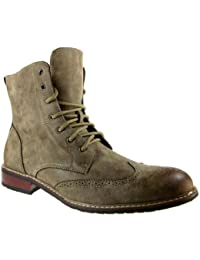 Men's 828A Wing Tip Ankle High Boots