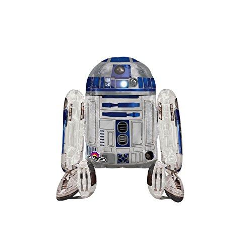 Regina 106576.9, Balão Metalizado Air Walker Star Wars R2D2 Pack, Multicor