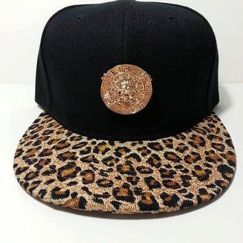 VERSACE UOMO BALL CAPS cappelli di snapback REGOLABILE (BLACK LEOPARD) ... 89315a8c134c