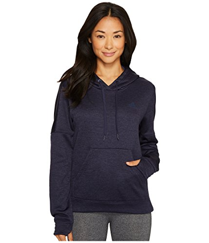 adidas Women's Team Issue Fleece Pullover Hoodie, Noble Ink Melange/Collegiate Navy, Small