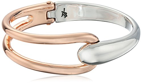 Kenneth Cole New York Bangle Bracelet - Kenneth Cole New York Two-Tone Hinged Bangle Bracelet